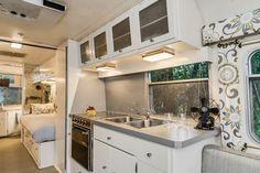'72 Avion Camper Renovation - midcentury - Kitchen - Nashville - William Johnson Architect