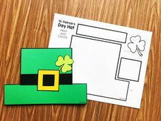 Patricks Day hat from Simply Kinder. Print on color paper or color it in. Use as a craft or make into a hat! Perfect for preschool, kindergarten, and first grades! St Patricks Day Hut, Saint Patricks Day Art, St Patricks Day Crafts For Kids, March Crafts, K Crafts, St Patrick's Day Crafts, Kindergarten Crafts, Preschool Themes, Preschool Crafts