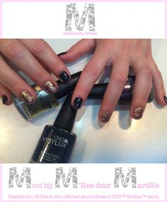 CND™ SHELLAC™ brand 14+ day nail color indigo frock, plum Paisley en locket love