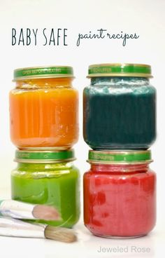 Easy homemade paint recipes that are safe for babies and toddlers
