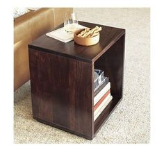 Uber easy DIY end table we plan to build for our living room for less than $20 vs the $200 price tag at Crate