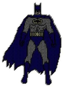 BATMAN PLASTIC CANVAS PATTERN