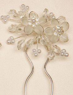 Pearl crystal hair pin
