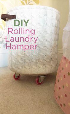DIY Rolling Laundry Hamper Tutorial: An Easy Organizing Idea
