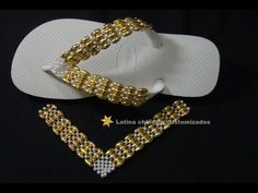Beaded Shoes, Beaded Sandals, Decorating Flip Flops, Beaded Necklace, Beaded Bracelets, Beaded Crafts, Beading Projects, Slippers, Jewelry Making