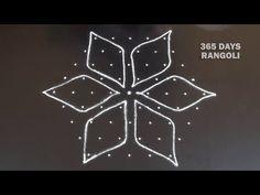 Small Sikku Rangoli simple and dots Kmbi Kolam for beginners*Melikala muggulu*ಬಳ್ಳಿ ರಂಗೋಲಿ Easy Rangoli Designs Diwali, Rangoli Simple, Rangoli Designs Flower, Free Hand Rangoli Design, Small Rangoli Design, Rangoli Designs With Dots, Flower Rangoli, Rangoli With Dots, Beautiful Rangoli Designs