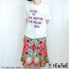 メール便送料無料!S M L XL 半袖Tシャツ 白 紫プリント カットソー レディース対応。送料無料 ポイント10倍 手刷 デザイナー 手書き オリジナル ビンテージプリント カットソー tEeTeE ティーティーレディース メンズ ユニセックス 雨 レイン rain 半袖 Tシャツ 5.6oz バニラホワイト パープル