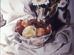Still Life Fruit bowl, Charles Demuth. Lancaster, Charles Demuth, Still Life Fruit, Paul Cezanne, Famous Artists, American Artists, Art Education, Painters, Watercolors