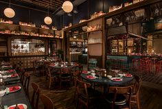 chinese restaurant Duck Duck Goat - Chicago - The Infatuation Bar Interior, Restaurant Interior Design, Interior Decorating, Interior Ideas, Restaurant Concept, Cafe Restaurant, Restaurant Ideas, Illinois, Chicago Bars