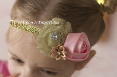 Light Pink and Gold Sparkles Glitter by OnceUponATimeTuTus on Etsy
