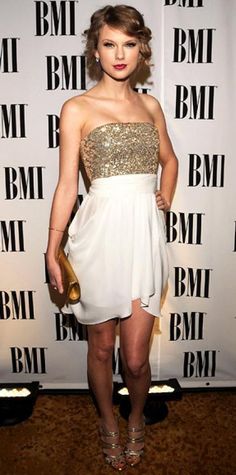 Look of the Day › May 19, 2010 WHAT SHE WORE Swift made the scene at the BMI Pop Awards in Beverly Hills sporting a custom Alice + Olivia minidress and Neil Lane diamonds