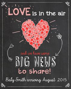 34 Best Valentine S Day Pregnancy Announcement Tiffany Rose Images