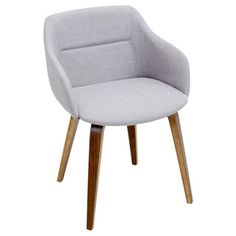 Campania Mid-Century Modern Chair in Walnut Wood by LumiSource   Overstock.com Shopping - The Best Deals on Dining Chairs