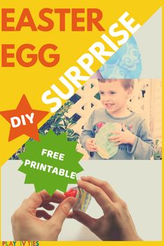 These DIY Surprise Easter Eggs are totally worth your time. It's unique and ecofriendly activity for families. Get free printable and surprise your kiddos! Easter Activities For Kids, Easter Gifts For Kids, Fun Crafts For Kids, Easter Crafts, Family Activities, Family Games, Easter Eggs, Easter Holidays, Egg Hunt