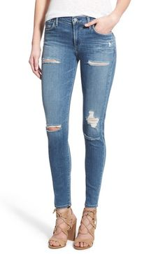 A Gold E 'Sophie' High Rise Skinny Jeans (Cannes) available at #Nordstrom