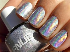 psychadelic nails | Nails / FNUG Holographic Nail Polish in Psychedelic