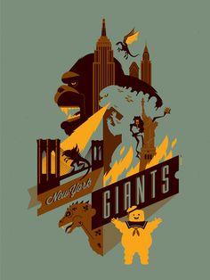 New York Giants by Tom Whalen