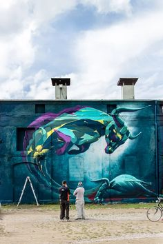 The Ghost of the Dead Bull Mural by GRAPHISM (Eazy + Law One) @ Deadline Urban…