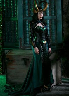 Lady Loki cosplay costume marvel inspired original desigm by Rarami