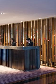 Reception desk - InterContinental Hotel, Hong Kong