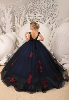 Items similar to Navy blue Flower Girl Dress - Birthday Wedding party Bridesmaid Holiday Navy blue Flower Girl Dress on Etsy Girls Blue Dress, Little Girl Dresses, Blue Dresses, Flower Girl Dresses, Girls Dresses, Dresses Dresses, Flower Girls, Party Dresses, Formal Dresses