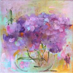 ❥ Hydrangea Original Abstract Painting