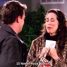Chandler moves to Yemen #FRIENDS