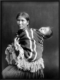 Framed Art Print: Navajo Woman & Child Framed Art : 25x19in