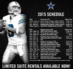 Dallas Cowboys 2015 football schedule- cannot wait for football season to begin! Dallas Cowboys Quotes, Cowboys 4, Dallas Cowboys Football, Nfl Dallas, Alabama Football, American Football, College Football, Football Team, Nfl Football Schedule