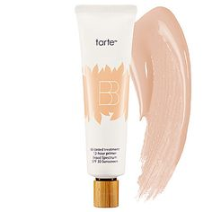 BB Tinted Treatment 12-Hour Primer Broad Spectrum SPF 30 Sunscreen by Tarte. I CANNOT stop raving about this product. It's the best primer/sunscreen I have ever applied to my face. A little really goes a long way.  One of my favorite luvocracy.com recommendations yet. LUV it!! $34