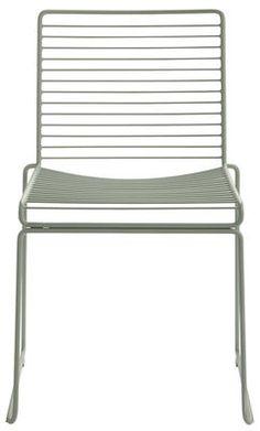 Chaise empilable Hee / Métal Kaki - Hay - Décoration et mobilier design avec Made in Design