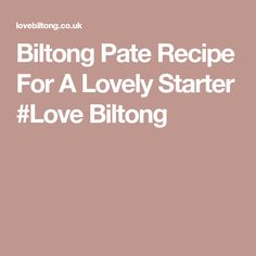 This Biltong pate recipe is lovely to have on the weekend on fresh, crisp toast or baguette bread. Pate Recipe Easy, Pate Recipes, Baguette Bread, Biltong, Easy Food To Make, Madness, Crisp, Toast