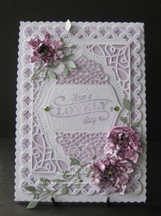 Lovely Floral Greeting Card - from pam-simcrafts.blogspot.com