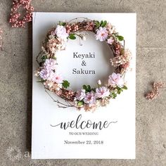 Best 12 This would look nice framed. Wedding Welcome Board, Welcome Boards, Handmade Wedding, Diy Wedding, Wedding Flowers, Creative Gift Wrapping, Ceremony Decorations, Flower Frame, Baby Decor