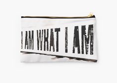 SALE! 15% off everything! Use code YOURTHING15 - I am what I am... by cool-shirts #pouch #accesories #me #design #art
