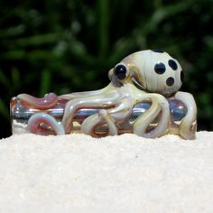 Octopus Dread Bead Blown Fumed Glass Free US by FullBlownGlass, $30.00 :: #dreadstop