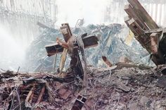 The World Trade Center cross was pulled from the rubble of the 9/11 attacks. The cross is part of the planned 9/11 Museum. (AP)