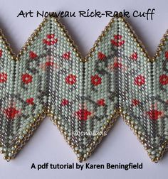 Art Nouveau Rick-Rack Cuff tutorial by KBenBeads on Etsy https://www.etsy.com/listing/204983653/art-nouveau-rick-rack-cuff-tutorial