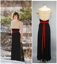 Heartstrings Gown  1930s Evening Gown by PublicDoveVintage on Etsy