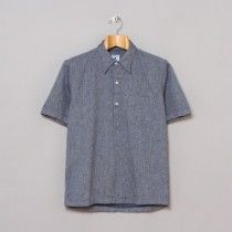 Primary photograph of product 'Ete Popover Shirt (Navy / White Vintage Chambray)'