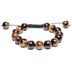 Bling Jewelry Inspired by Shamballa Jewels Bracelet Unisex Tiger Eye Round Beads 12mm Bling Jewelry. $16.99. Adjustable 7 to 9.5in. Alterrnating golden and red tiger eye. Tiger eye beaded bracelet. Inspired by Shamballa Jewels. Adjustable