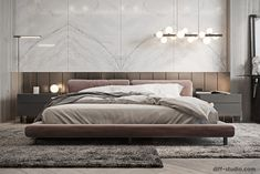 Contemporary house in Paris. on Behance bedroom contemporary Contemporary house in Paris. Modern Luxury Bedroom, Luxury Bedroom Design, Master Bedroom Interior, Modern Master Bedroom, Bedroom Furniture Design, Master Bedroom Design, Minimalist Bedroom, Luxurious Bedrooms, Home Decor Bedroom