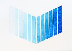 Blue Ombre Chevron Painting / Original Tribal by prettyinc on Etsy