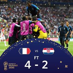 Perancis Croatia (Mario Mandžukić OG Antoine Griezmann P Paul Pogba Kylian Mbappé . World Cup Final 2018, Fifa World Cup 2018, World Cup Russia 2018, France Fifa, France Vs, Football Memes, World Football, Football Team, Antoine Griezmann