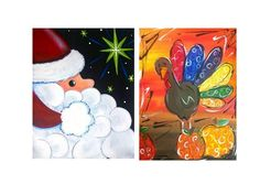 painting with a twist christmas - Google Search