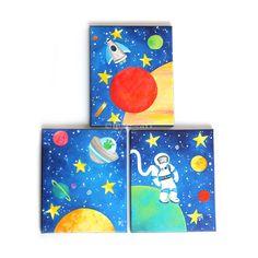 Kunst für Kinder SPACE TRIO 3er Pack 8 x 10 von nJoyArt auf Etsy