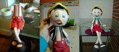 Pinocho. Pinoccio. Fofucha doll. Figura de goma eva. De Marian Mtz. de Yuso.
