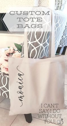 For the girls who have stood by your side, thru wedding dress shopping, bachelor… Bridesmaid Gifts From Bride, Bridesmaid Tips, Will You Be My Bridesmaid Gifts, Bridesmaid Tote Bags, Bridesmaid Proposal Box, Bridesmaid Cards, Bachelorette Party Planning, Stand By You, Bride Getting Ready