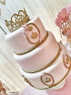 A stunning birthday cake fit for a true princess! See more party ideas at CatchMyParty.com
