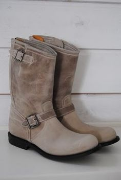 Taupe suede moto boots...nice!